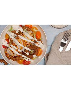 Resepti-Amerikan kanasalaatti sour cream-kaurarenkailla