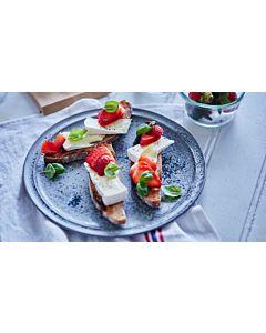 Resepti-Bruschetta mansikoilla & valkohomejuustolla
