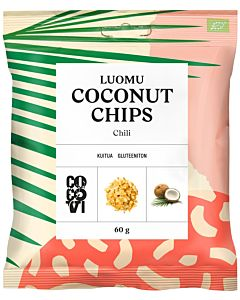 COCOVI LUOMU COCONUT CHIPS CHILI 60G