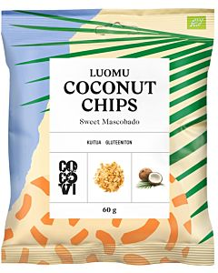 COCOVI LUOMU COCONUT CHIPS SWEET MASCOBADO 60G