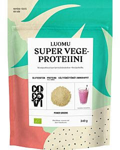 COCOVI LUOMU SUPER VEGEPROTEIINIJAUHE POWER GREENS 240G