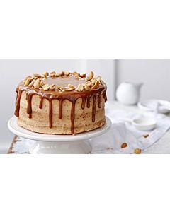 Resepti-Dripped cake eli Valuva maapähkinä-kinuskikakku