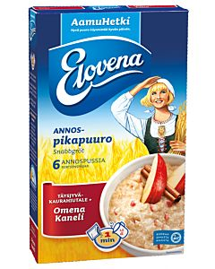 ELOVENA HETKI OMENA&KANELI KAURAHIUTALE 6X35G