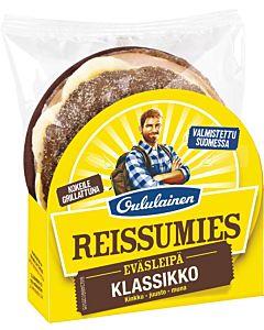 OULULAINEN REISSUMIES EVÄSLEIPÄ KLASSIKKO, KINKKU-JUUSTO-MUNA 160G