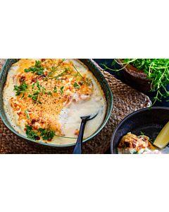 Resepti-Gratinoitu kalapata katkaravuilla
