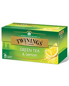 TWININGS GREEN TEA LEMON 25PS/40G