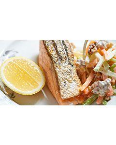 Resepti-Lohta ja piparjuurella maustettua salaattia