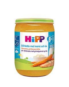 HIPP TILLIRISOTTOA PORKKANAA LOHTA 8KK 190G GLUTEENITON