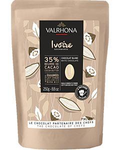 VALRHONA VALKOSUKLAANAPPI LEIVONTASUKLAA 35% IVOIRE 250G