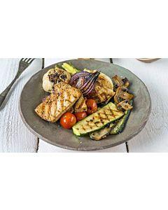 Resepti-Marinoitua jalotofua ja kasviksia grillistä