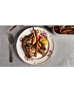 Resepti-Kanalan emännän uunikanaa ja juureksia