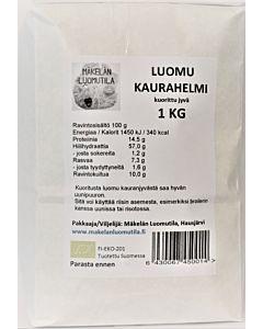 MÄKELÄN LUOMUTILA KAURAHELMI 1KG LUOMU