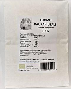 MÄKELÄN LUOMUTILA KAURAHIUTALE 1KG LUOMU