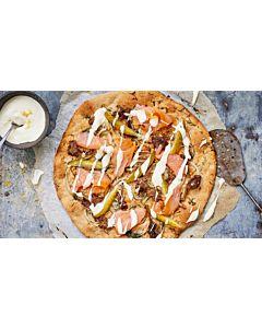 Resepti-Kylmäsavulohipizza
