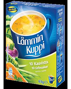 BLÅ BAND LÄMMIN KUPPI 10 KASVIKSEN KEITTO 3X21G LAKTOOSITON