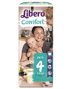 LIBERO COMFORT TEIPPIVAIPPA KOKO 4 (7-11 KG) 54KPL