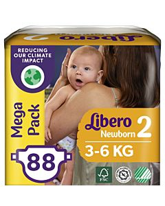 LIBERO NEWBORN TEIPPIVAIPPA KOKO 2 (3-6 KG) 88KPL