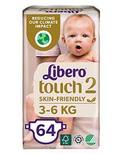 LIBERO TOUCH TEIPPIVAIPPA K0KO 2 (3-6KG) 64KPL