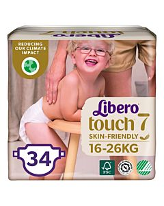 LIBERO TOUCH TEIPPIVAIPPA KOKO 7 (16-26KG) 34KPL