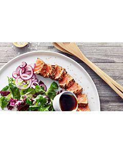 Resepti-Lohipastrami ja marinoitua punasipulia