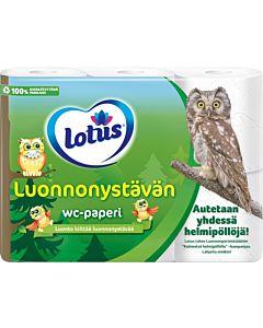 LOTUS LUONNONYSTÄVÄN WC-PAPERI 6 RULLAA