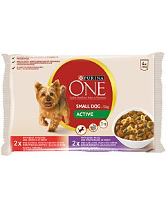 PURINA ONE 4X100G SMALL DOG ACTIVE KOIRALLE