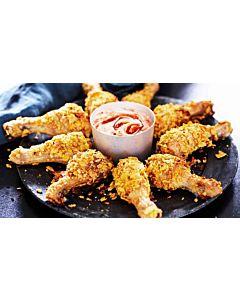 Resepti-Paistettua kanaa ja texmexdippiä