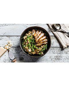 Resepti-Paistettua kananpoikaa ja vuohenjuustopastaa