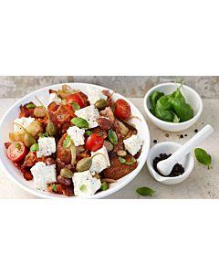 Resepti-Panzanella eli leipäsalaatti