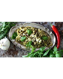 Resepti-Pestopasta Beanit-härkäpapusuikaleilla