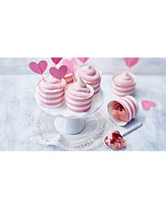 Resepti-Pink velvet cupcakes
