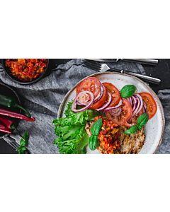 Resepti-Possupippuripihvit chilihillokkeella ja tomaattisalsalla