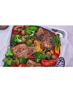 Resepti-Ponzu-kastikkeessa marinoidut porsaankyljykset
