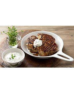 Resepti-Porsaan fileepihvit ja AURA jogurttikastike