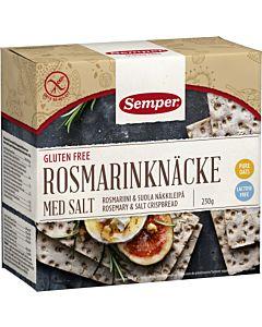 SEMPER NÄKKILEIPÄ ROSMARIINI & SUOLA 230G GLUTEENITON