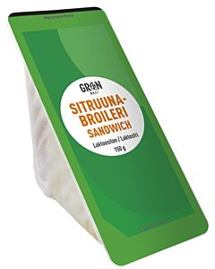 GREENDELI SITRUUNA-BROILERI SANDWICH 150G LAKTOOSITON