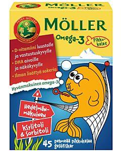 MÖLLER OMEGA-3 PIKKUKALAT HEDELMÄNMAKUINEN 45KPL