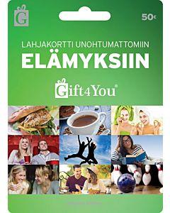 GIFT4YOU ELÄMYKSET 50EUR LAHJAKORTTI