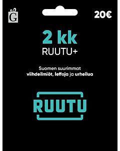 RUUTU+ 2KK 20EUR LAHJAKORTTI