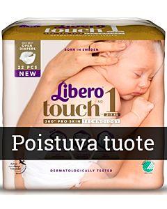 LIBERO TOUCH TEIPPIVAIPPA KOKO 1 (2-5KG) 22KPL