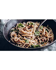 Resepti-Vegaaninen pasta carbonara