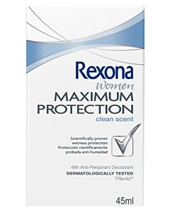 REXONA WOMEN MAXIMUM PROTECTION CLEAN SCENT DEO 45ML