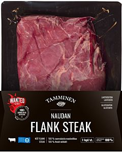 TAMMINEN WANTED NAUDAN FLANK STEAK N.400-600G