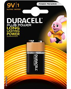 DURACELL 1KPL PLUS POWER 9V ALKALIPARISTO