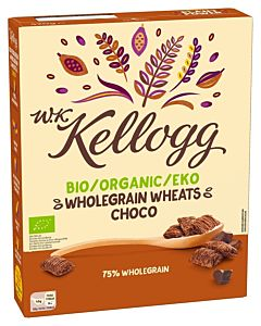 KELLOGG'S WKK BIO EKO WHOLEGRAIN WHEATS CHOCO 420G LUOMU