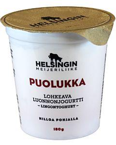 HELSINGIN MEIJERILIIKE LOHKEAVA LUONNONJOGURTTI  PUOLUKKA 180G