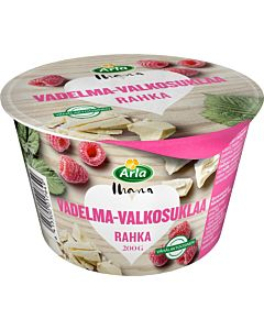 ARLA IHANA RAHKA VADELMA-VALKOSUKLAA 200G LAKTOOSITON