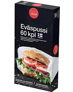 SAGA EVÄSPUSSI 12 X 23CM 60KPL