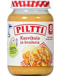 PILTTI KASVIKSIA JA BROILERIA190G 8KK