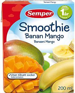 SEMPER SMOOTHIE BANAANI-MANGO 12KK 200ML